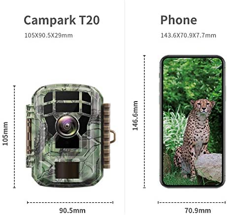 "【2020 Upgrade】 Campark Mini Trail Camera 16MP 1080P HD Game Camera Waterproof Wildlife Scouting Hunting Cam with 120° Wide Angle Lens and Night Vision 2.0"" LCD IR LEDs 51EcvoiFENL"