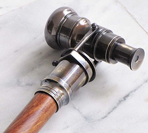 THORINSTRUMENTS (with device) Nautical Collectible Antique Finish Brass Telescope Spyglass Walking Stick Cane