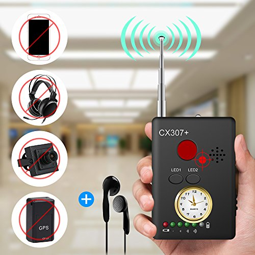 "(Anti-spy Camera Bug RF Signal Detector [Enhanced Version], Dooreemee Wireless Hidden Camera GPS Tracker Higher Sensitivity Multi-Functional GSM Device Finder(2"" X 0.6"" X 2.9"", 1.6oz, Handheld).)"