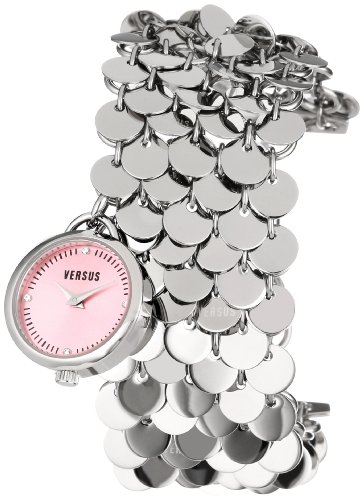 Versus by Versace Women's SGD030012 Lights Stainless Steel Pink Dial Charm Bracelet - Charm Versace