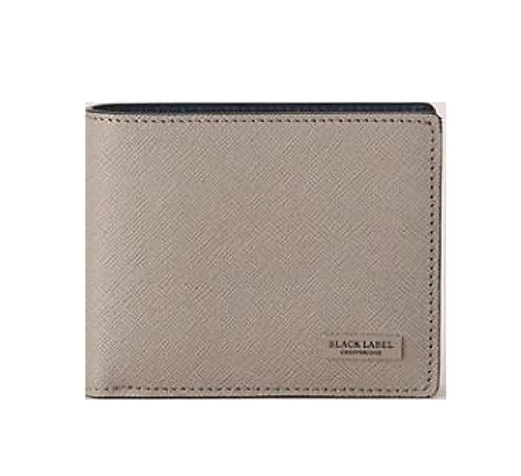 ブラックレーベル クレストブリッチ メンズ 財布 二つ折り財布 プリムレザーコインタイプ バーバリー ライセンス商品 (グレー) B07H7Q9Y8R
