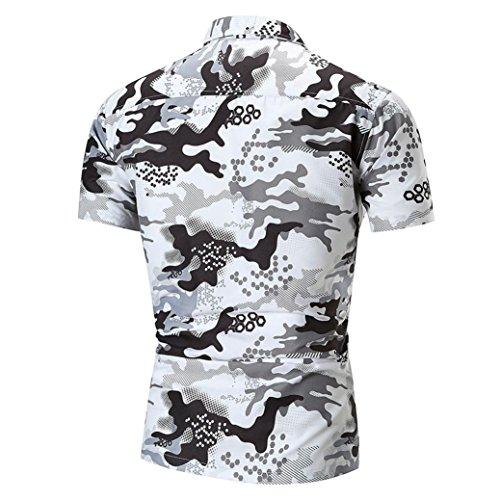 zycShang Remera Polo Camisa Casaca Desgastar Manga Corta Camisa De Deporte Hombres Delgado Sudor Absorbente Camiseta… n0tkaeZmcI