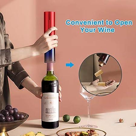 E-More Sacacorchos Electrico Profesional Automatico Abrelatas de Vino Abridor Botellas Sacacorchos eléctrico sacacorchos Ideal para regalar abrebotellas eléctrico abrebotellas,sacacorchos kit regalo
