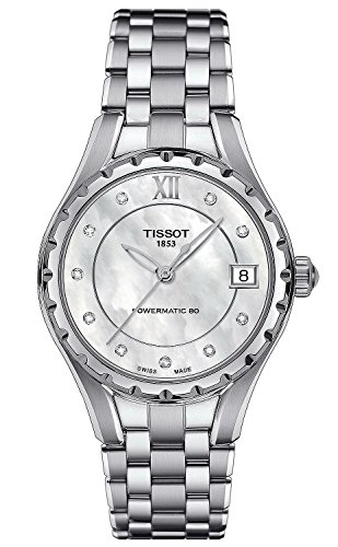 Tissot T-Lady Powermatci 80 Automatic Mother of Pearl Dial Stainless Steel Ladies Watch T0722071111600 (Dial Automatic Of Mother Pearl)