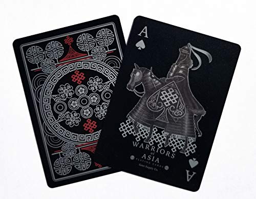 Gent Supply Warriors of Asia Playing Cards Black PVC Edition Deck