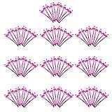 Homyl 100 Pcs Palos de Agitador de Plástico Diseño Flamenco Hawaiano Mezclador para Bar Restaurante para Fiesta