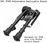 SRC Metal Tactical Adjustable Harris Type 6''-9'' Bi-pod for M700/M14/M16 (Bipod Adapter Included) Airsoft Part