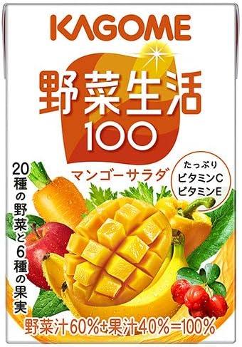カゴメ 野菜生活100 マンゴーサラダ 100ml紙パック×36本入×(2ケース)