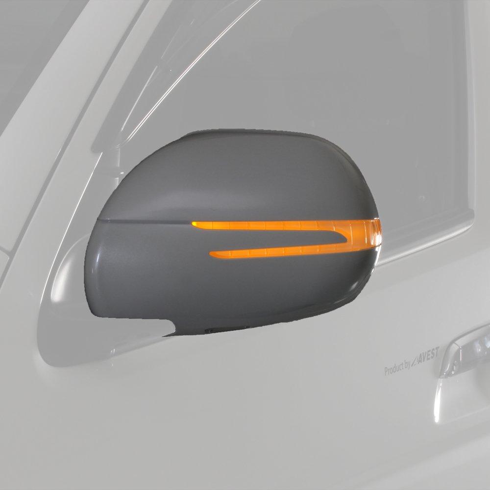 流れるウィンカードアミラー ハイエース HIACE レジアスエース REGIUSACE 200系 LED オプションランプ ホワイトLED 599ライトイエロー AVEST B07B4TMJV9 オプションランプ:ホワイトLED|599ライトイエロー 599ライトイエロー オプションランプ:ホワイトLED