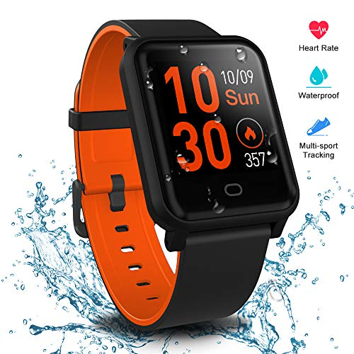Fitpolo Smart Watch Health Fitness Tracker, Activity Tracker Heart Rate Monitor, Step Calories Counter, Sleep Monitor, Stopwatch, Breath Training, Waterproof Sports Pedometer Watch for Kids Woman Man