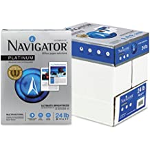NAVIGATOR NPL11245R Platinum Paper, 24-lb., 8-1/2 x 11, Bright White, 500 Sheets/Rm, 5 Rms/Ct