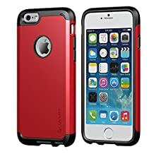 iPhone 6 Plus Case, LUVVITT® ULTRA ARMOR iPhone 6 Plus Case / Best iPhone 6 Plus Case that Fits 5.5 inch Screen | Double Layer Shock Absorbing Cover (Does NOT fit iPhone 5 5S 5C 4 4s or iPhone 6 4.7 inch screen) - Black / Red