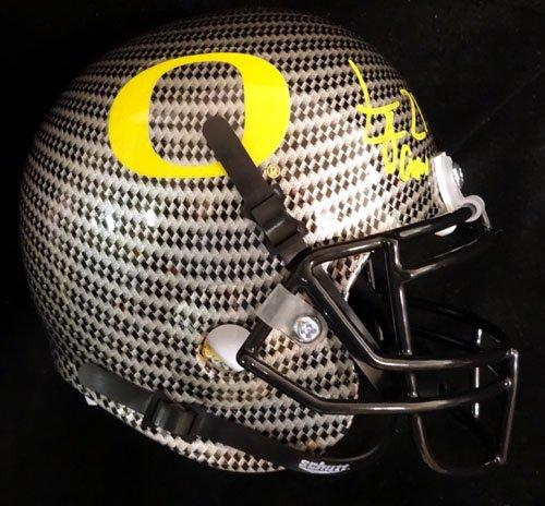 (LaMichael James Autographed Oregon Ducks Gray Carbon Fiber Authentic Mini Helmet TriStar)