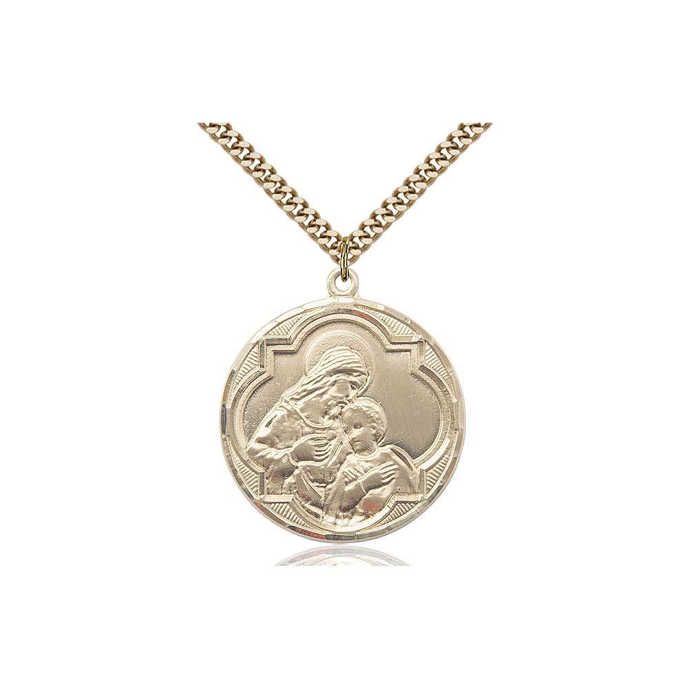 DiamondJewelryNY 14kt Gold Filled Blessed Sacrament Pendant