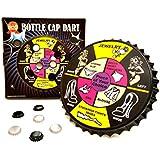 Barwench Games' Bottle Cap Darts Party Game, Bottle Cap Magnetic Dart Board (Striptease)