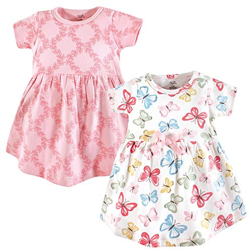 baby girls organic cotton dress butterflies short