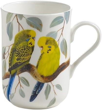 Maxwell & Williams PBW1508 Birds of The World - Taza en Caja de Regalo (Porcelana), diseño de periquitos: Amazon.es: Hogar