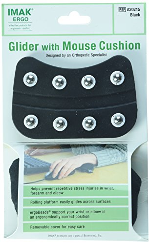 IMAK Ergo Glider with Mouse Cushion, Black, 0.3 Pound