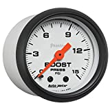 "Auto Meter (5702) Phantom 2-1/16"" 0-15 PSI"