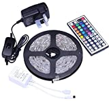 Tingkam® Waterproof 5M 5050 SMD RGB Led Strips Lighting Full Kit with 44 Key IR Remote Controller for Home Kitchen Cabinet TV Lighting Decoration Bild 4
