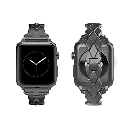 TINERS Compatible Apple Watch Band Metal Reloj Inteligente Correa Deportiva 3/2/1 Serie