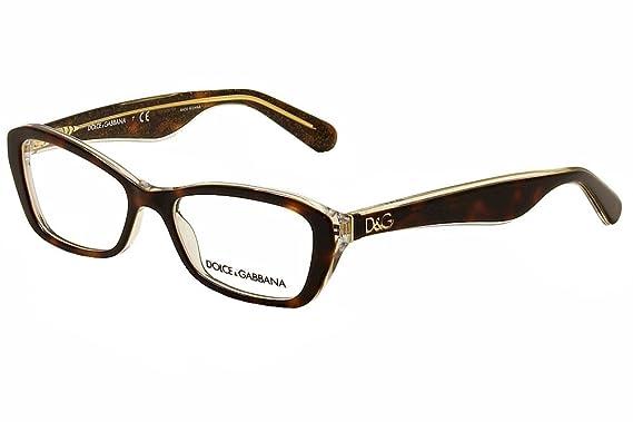 2774af70361 DOLCE   GABBANA Eyeglasses DG 3168 2738 Havana Glitter Gold 51MM ...