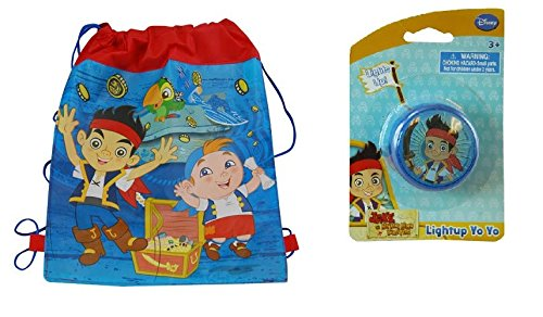 Jake and The Neverland Pirates Sling Tote Bag W/Bonus Light Up -