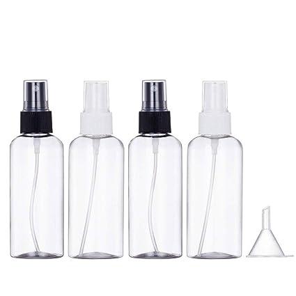 FOGAWA 4 Botella Spray Atomizador Perfume Vacío 100ml Pequeña Frasco Vial Pulverizador Vacío Botella Rociador Bomba