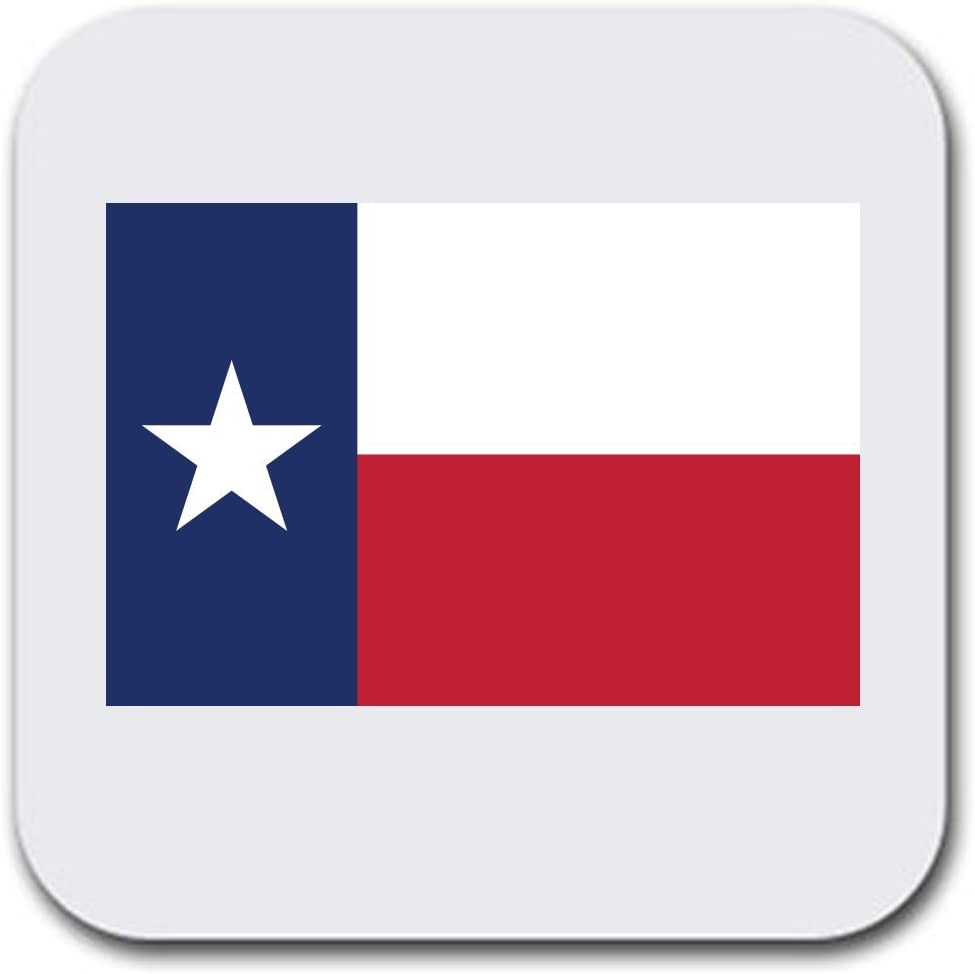 "Texas State Flag Beer or Beverage Absorbent Table Coasters - Set of six (6pcs) - Gifts Home Office - Furniture Safe - Quality Neoprene 1/4 Inch Thickness 3.5""x 3.5"""