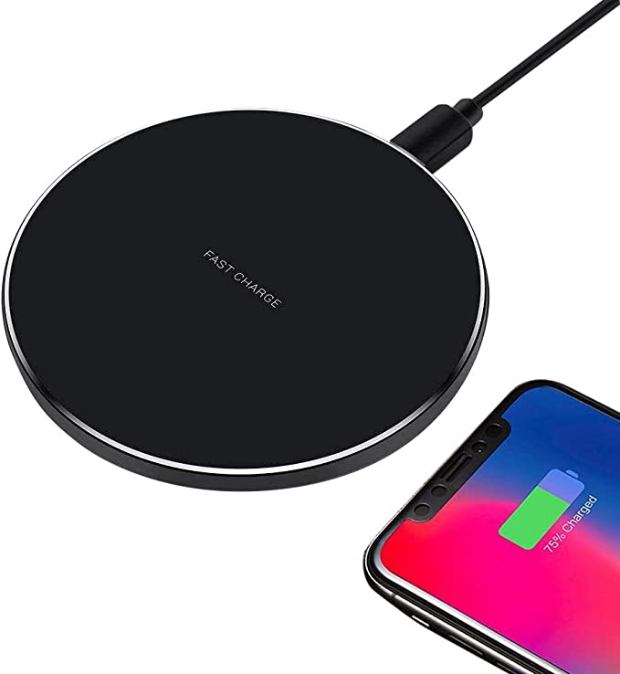 Compatible with iPhone X//8//8 Plus Wireless Charger EWANTIC 10W 7.7mm Ultra-Thin Qi Fast Charging Pad Samsung Galaxy S9//S9 Plus//Note 8//S8//S8 Plus and Other Qi-enabled Phones