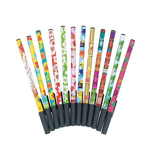 Fun Express - Tropical Stick Pen Assortment for Summer - Stationery - Pens - Basic - Summer - 72 Pieces