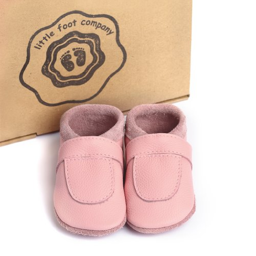 Krabbelschuhe Handgemachte Markenqualität Komfortleder Foot Weiches Aus Little Babypuschen Deutschland Company® Rosa In Etawqq8