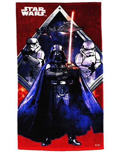 Badetuch - Star Wars - 70 cm * 140 cm Handtuch - Strandtuch - 100 % Baumwolle - Jungen - 70x140 für Kinder - Erwachsene Badehandtuch - Starwars Clone Wars - Darth Vader Stormtrooper - Raumschiff Anakin Skywalker Luke