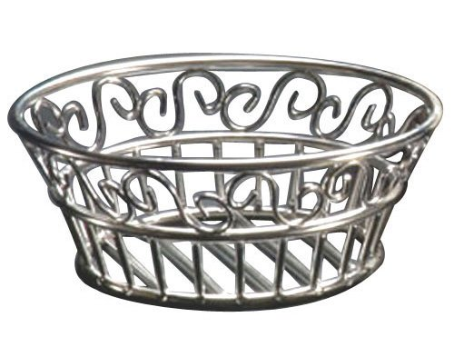 "Metalcraft Scroll American (American Metalcraft (SSLB94) 9"" Round Stainless Steel Scroll Bread Basket)"