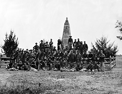 (Bull Run, VA - Monument on Battlefield Civil War Photograph (24x36 SIGNED Print Master Giclee Print w/Certificate of Authenticity - Wall Decor Travel Poster))