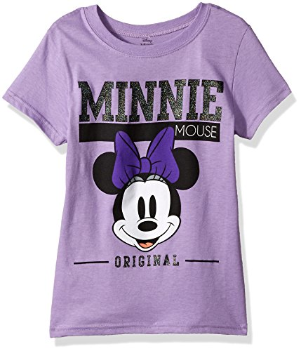 Disney Shirts For Girls (Disney Big Girls' Minnie Mouse Cap Sleeve T-Shirt, Lavender, M-8/10)