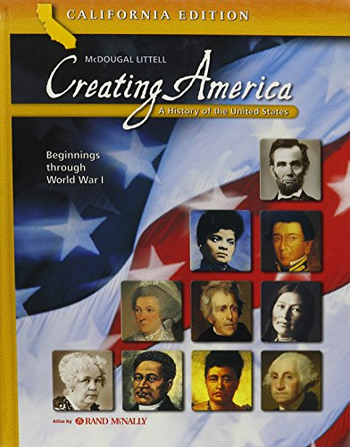 Creating America - California Student Edition: A History of the United States (Beginnings through World War l) by McDougal Littel (Image #3)