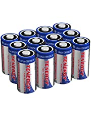 Tenergy Propel 3V CR123A Lithium Battery, High Performance CR123A Cell Batteries PTC Protected for Cameras, Flashlight Replacement CR123A Batteries, 12-Pack (Non-Rechargeable)