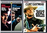 The Outlaw & Dirty Harry + Magnum Force DVD Action Pack 3 Movie Set Clint Eastwood Josey Wales Westen