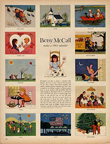 Betsy McCall makes a 1961 Calendar paper doll page 1 1961 from The Jumping Frog