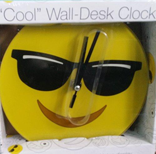 Cool Emoji 7 IN Glass Clock -