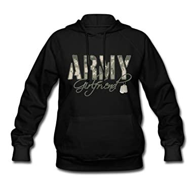 Amazon.com  Spreadshirt Army Girlfriend Camo Dog Tags Women s Hoodie   Clothing fe62d09d0