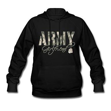 eaaa8e35 Amazon.com: Spreadshirt Army Girlfriend Camo Dog Tags Women's Hoodie:  Clothing
