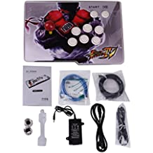 Video Game Console, 999 Classic Games, 1 Player Pandora's box 5S home Arcade Console 999 Games All in 1 jamma PCB, Single Stick Newest Design, replacement button, Power HDMI cable