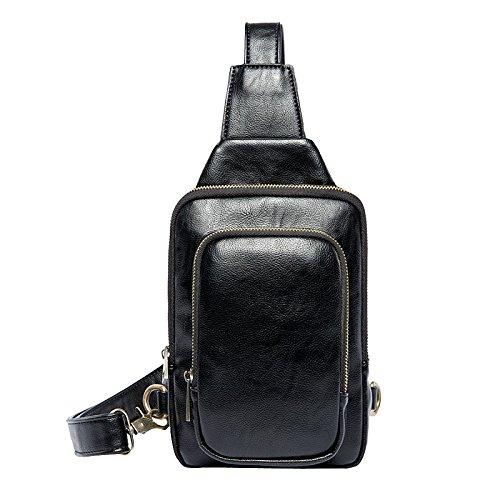 Sling Bag Crossbody Bag Waterproof Outdoor Cycling Chest Shoulder Imbalance Gym Bags Fashion Satchel Bag For Men (black) Black