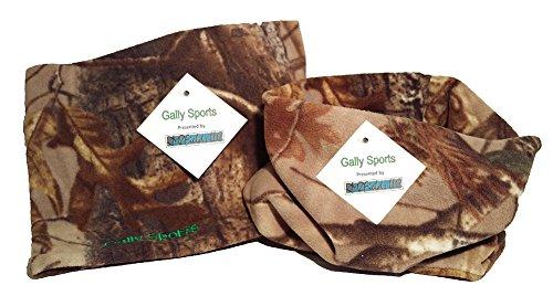 Gally Sports Neck Gaiter 2-Pack Camo 2-in-1 Microfiber Polar Fleece Neck Warmer and Face Mask (Camouflage) (Camo-2pack - Polar Camouflage Fleece