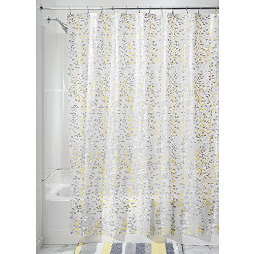 InterDesign 72x72 Vine SHWR Curtain, Gray and Yellow