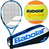 Babolat Drive Junior Blue/White Tennis Racquet with Play & Stay Tennis Balls and a Tennis Bag