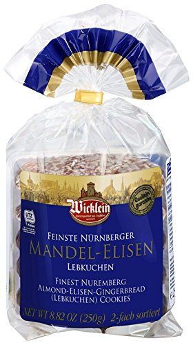 Wicklein Gold Elisen Lebkuchen Almonds Dual Sort - 250g/8.8 oz