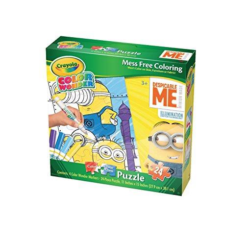 minions crayola wonder jigsaw puzzle